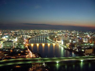新潟の夜景 - Digital-Free